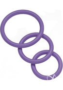 Nitrile Cock Ring Set 3 Sizes Per Pack Purple