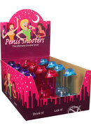 Penis Shooters Double Shot Glasses Assorted Colors Counter...
