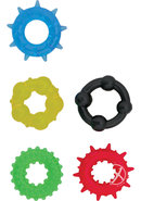 Pleasure Rings Set Of 5 Cockrings Waterproof