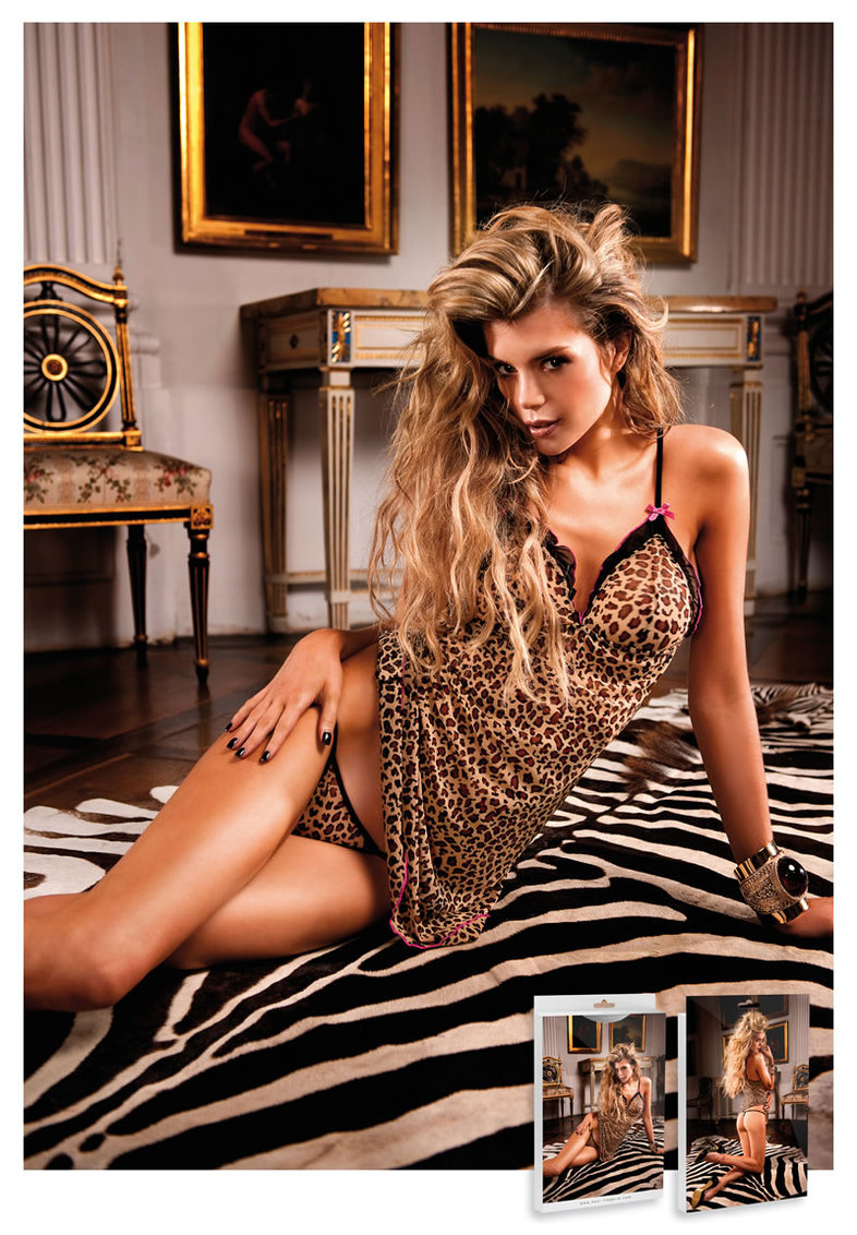 Two-piece Chemise Set Leopard (disc)