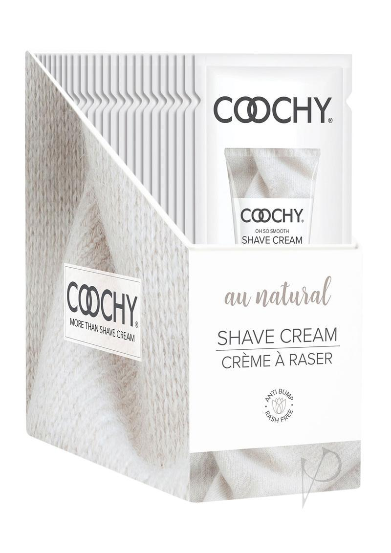 Coochy Oh So Smooth Shave Cream Au Natural 24 Foils Per Counter Display