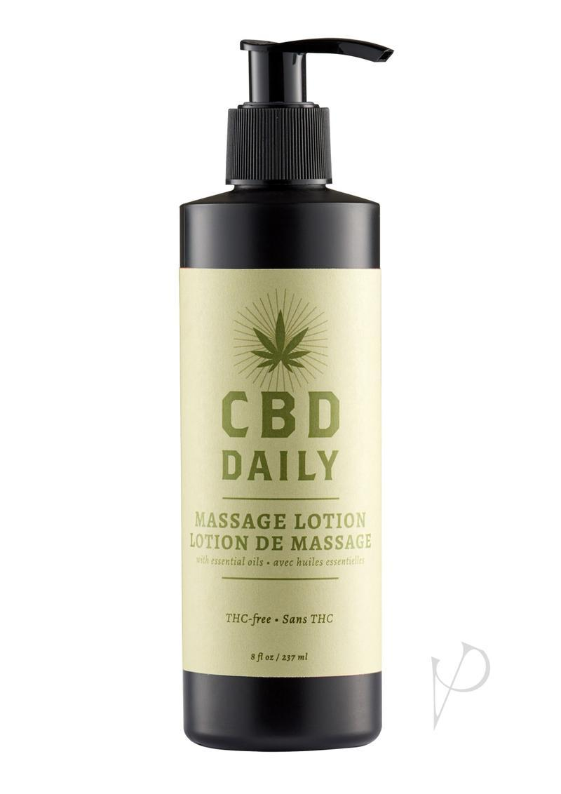 Earthly Body Cbd Daily Massage Lotion 8 Ounce